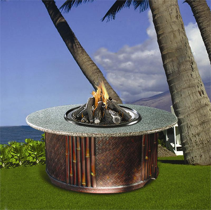 Tradewinds Series Chat Height Fire Pit W Fire Glass